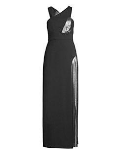 8237662314be QUICK VIEW. BCBGMAXAZRIA. Halterneck Metallic Insert Gown
