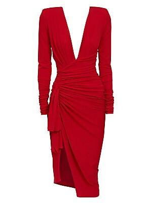 e7ae4543a5 Alexandre Vauthier - Draped Velvet Maxi Wrap Gown - saks.com