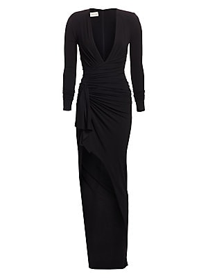 1be1622fe8 Alexandre Vauthier - Plunging Wrap Dress - saks.com
