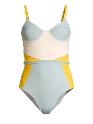 KORÉ Gaia Colorblock One-Piece Swimsuit in Citrine