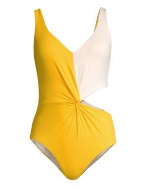 KORÉ Oceania Colorblock One-Piece Swimsuit in Citrine