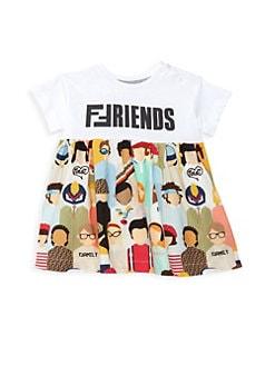 82de0e936c47 Baby Girl s Short Sleeve Friends Print Dress MULTI. QUICK VIEW. Product  image