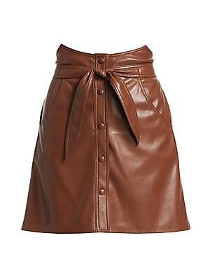 Tie Waist Mini Skirt by Nanushka