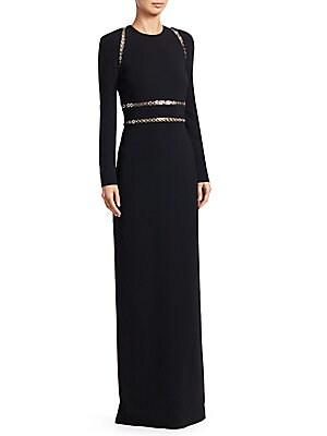 9db6ae790e6 Alexander Wang - Long Sleeve Grommet Column Gown - saks.com