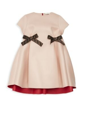 Little Girl's & Girl's Bow Dress by Fendi
