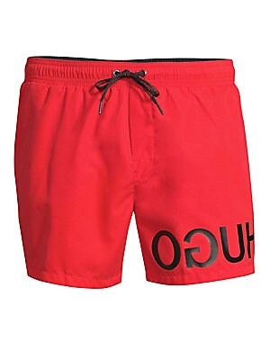 cb119465c2 HUGO - Martinique Reverse Logo Swim Shorts - saks.com