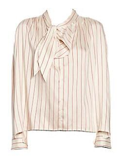 270c23c877d8a Isabel Marant. Ogi Silk Tie Neck Striped Blouse