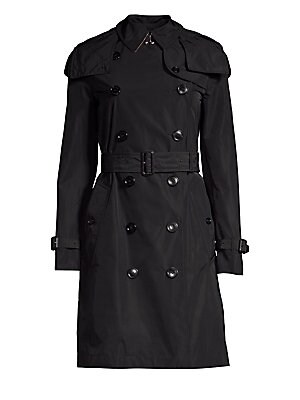 12b430f6d8ca Burberry - Kensington Hooded Double-Breasted Trench Coat - saks.com