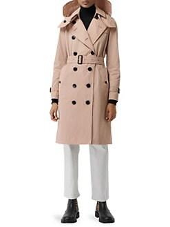 e159da821fe6 Burberry. Kensington Hooded Trench Coat