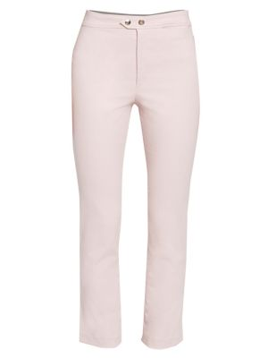 Nila Stretch Copped Pants in Light Pink