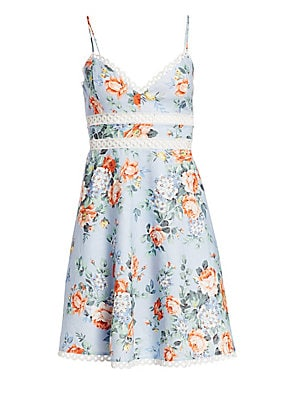 Image result for Zimmermann Bowie Floral Lace Eyelet A-Line Sun Dress