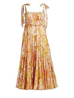 bb334213be2 QUICK VIEW. Zimmermann. Primrose Cotton Silk Tie-Shoulder Dress