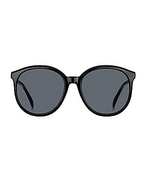 Image of Vintage-inspired sunglasses with contrast arms. 100% UV protection Case and cleaning cloth included Acetate Made in Italy SIZE 56mm lens width 18mm bridge width 145mm temple length. Soft Accessorie - Sunglasses > Saks Fifth Avenue. Givenchy. Color: Black.