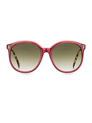 Image of Vintage-inspired sunglasses with contrast arms. 100% UV protection Case and cleaning cloth included Acetate Made in Italy SIZE 56mm lens width 18mm bridge width 145mm temple length. Soft Accessorie - Sunglasses > Saks Fifth Avenue. Givenchy. Color: Pink.