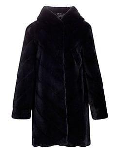 89f4d3c7a4 Product image. QUICK VIEW. Norman Ambrose. Hooded Mink Fur Coat
