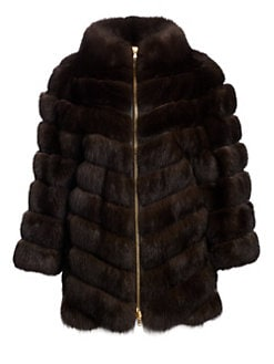 9ec4ec64643 QUICK VIEW. The Fur Salon. Sable Zip Jacket