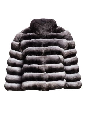 THE FUR SALON Chinchilla Fur Jacket in Natural