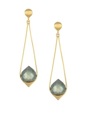 Dean Davidson Fes 22k Goldplated Labradorite Drop Earrings