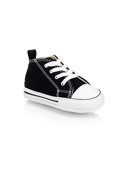 Image of Classic converse sneakers made for kids complete with all the signature details. Canvas upper. Textile lining. Rubber sole. Imported.