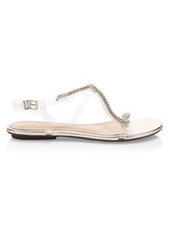 09f945a7312e7 Gabbyl Embellished Sandals TRANSPARENT. QUICK VIEW. Product image