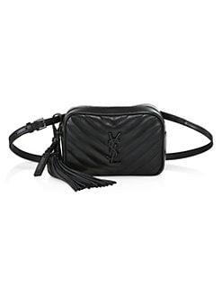 a0330042827 Saint Laurent. Lou Quilted Leather Belt Bag