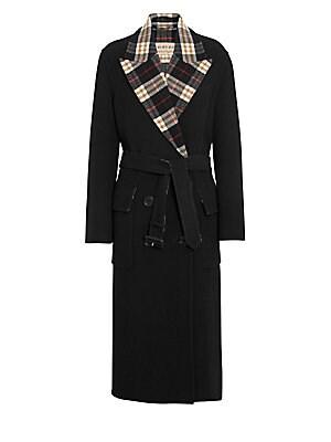 Burberry - Aberdare Double-Face Plaid-Lined Wool   Cashmere Coat 0d7c9c30dd9