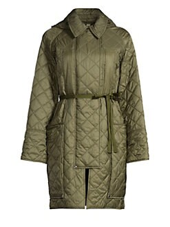 c5cbca015be Burberry. Coleraine Oversized Belted Quilted Coat