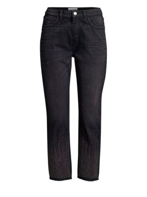 The Vintage Studded Crop Jeans by Current/Elliott