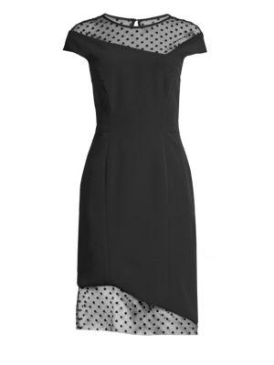 Lillian Mesh Panel Sheath Dress by Milly