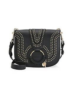 ad83517a5f678 Product image. QUICK VIEW. See by Chloé. Hana Studded Leather Saddle Bag