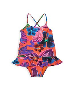 23c5c6fff5 Product image. QUICK VIEW. Vilebrequin. Little Girl's & Girl's Floral  Ruffle One-Piece Swimsuit