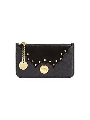 182cdebadd97 See by Chloé - Nick Suede   Leather Coin Card Case - saks.com