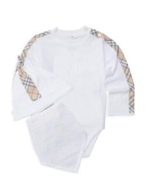 Burberry Baby S Alby Three Piece Bodysuit Hat Bib Set