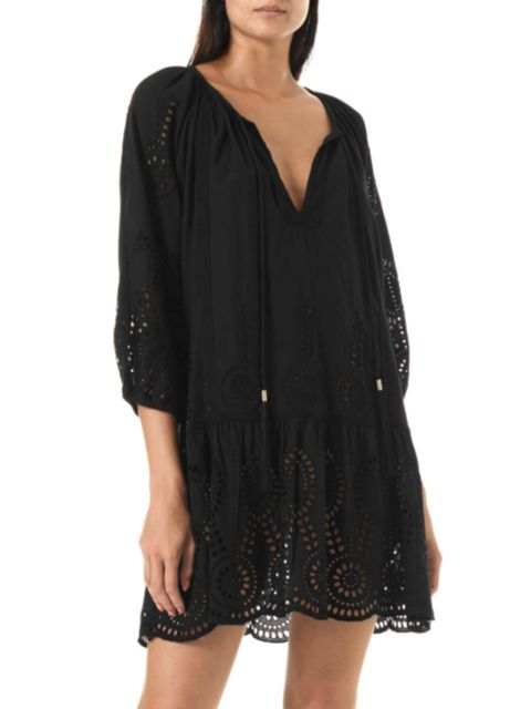 Melissa Odabash Ashley Lasercut Caftan Dress | SaksFifthAvenue