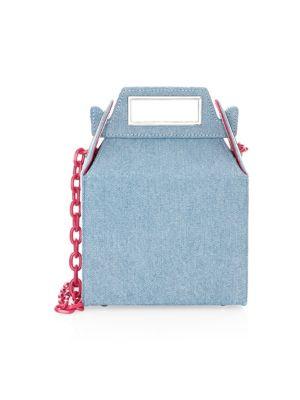 POP & SUKI Denim Takeout Shoulder Bag in Light Blue