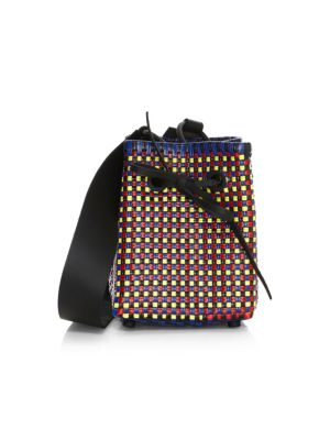 TRUSS Medium Square Bucket Bag in Multi
