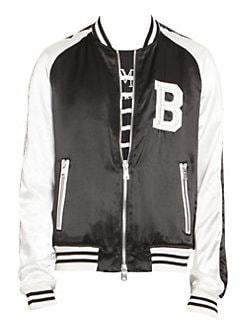 b30781150 Balmain. Embroidered Logo Bomber Jacket