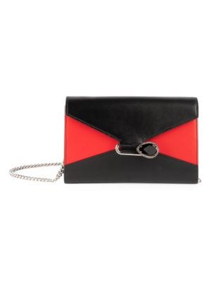 ALEXANDER MCQUEEN Pin Leather Wallet-On-Chain