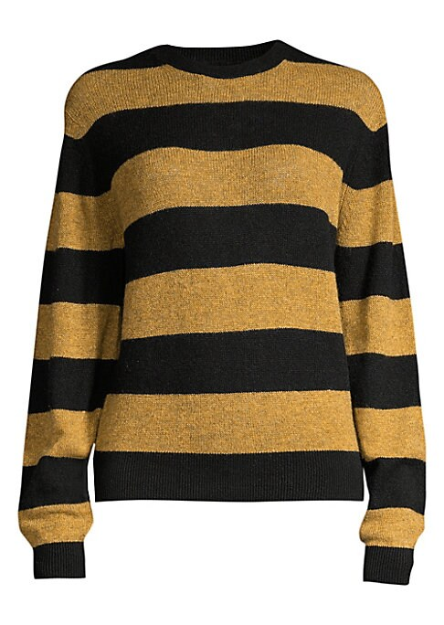 Image of Crafted from Italian cashmere, this slightly voluminous crewneck sweater is pure luxury. Scrunch up the sleeves and wear over one of Khaite's pleated skirts for a surprising - and ultra-comfortable - party look. Crewneck. Long sleeves. Ribbed cuffs and he