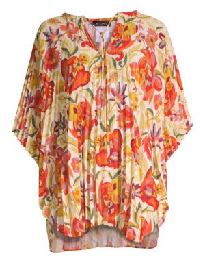 ETRO Floral Pleated Poncho Top