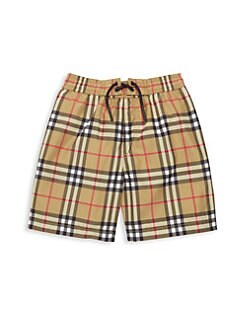 57435644ca Product image. QUICK VIEW. Burberry. Little Boy's & Boy's Galvin Check Swim  Trunks