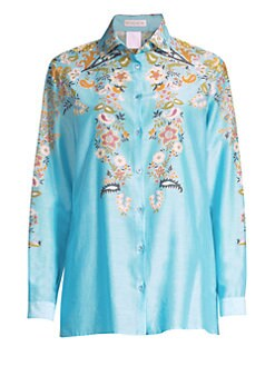 a7bbfa717e8de Floral Button-Down Shirt BLUE. QUICK VIEW. Product image
