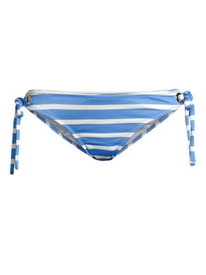 Milly Boca Striped Eyelet Bikini Bottom