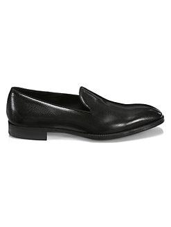 e854ab61a45 Giorgio Armani. Pebbled Texture Leather Dress Shoes