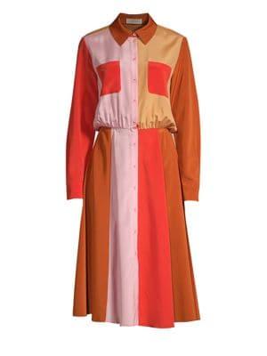 Stine Goya Renee Colorblocked Shirt Dress