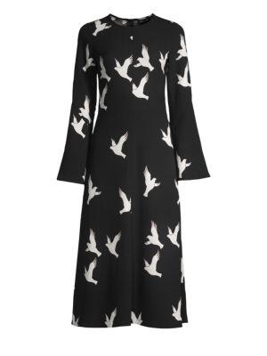 Stine Goya Clara Dove Print Midi Dress