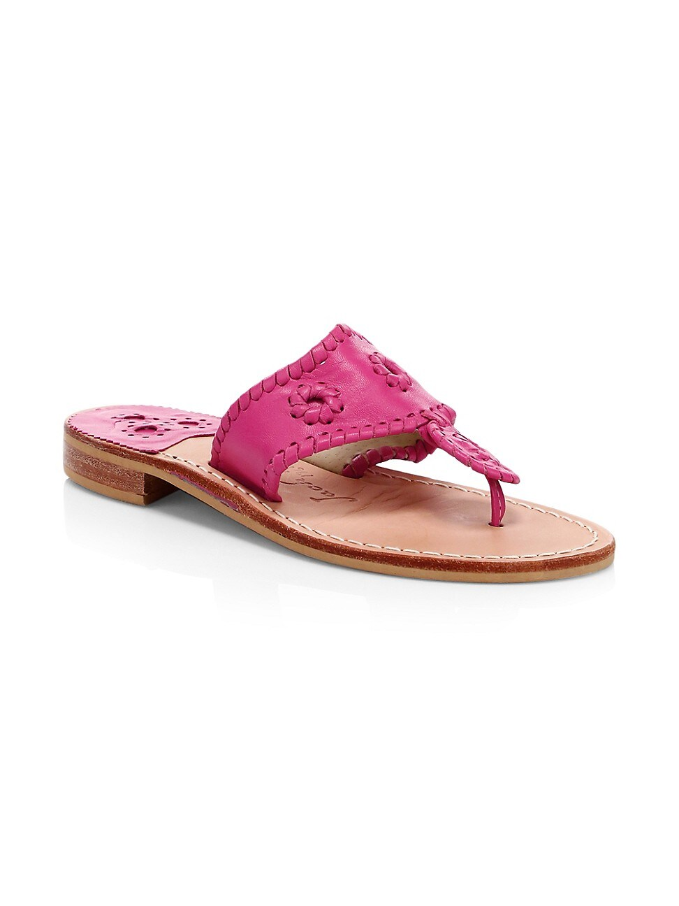 Jack Rogers WOMEN'S JACKS LEATHER THONG SANDALS