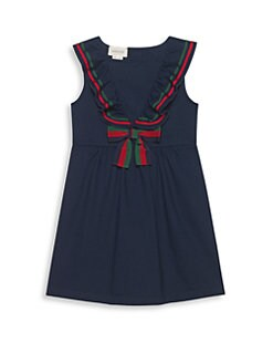 79ca79cbf8e Gucci. Little Girl s   Girl s Sleeveless Cotton Piqué ...
