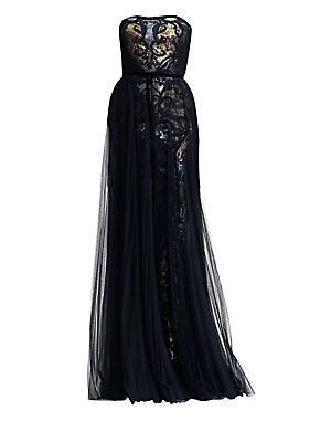 90edc3233ff1 Marchesa Notte - Strapless Tulle   Sequin Gown - saks.com