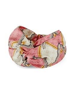 f6c735812b6 Gucci. Snake Print Silk Headband